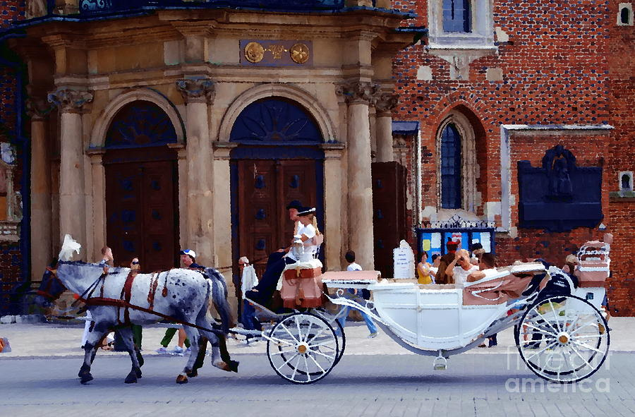 Krakow Photograph - A Ride In Krakow by Jacqueline M Lewis