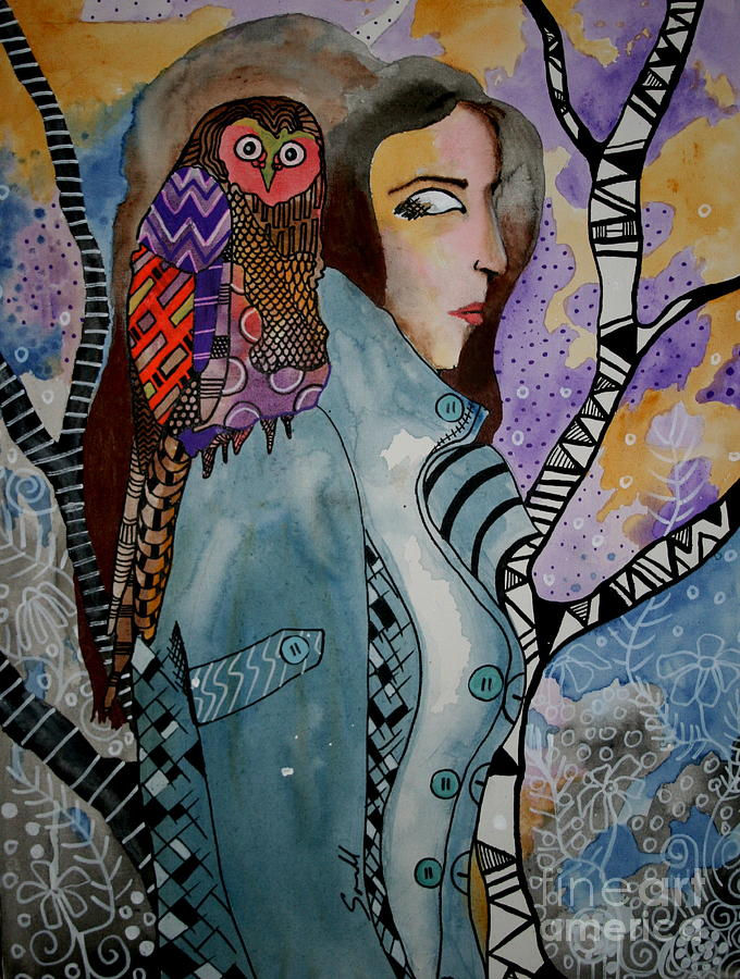 Bird Painting - A Ride In Style by Amy Sorrell