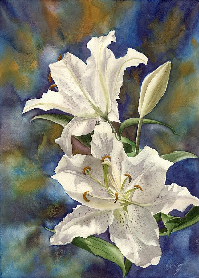Flower Painting - a Riot of Beauty by Alfred Ng