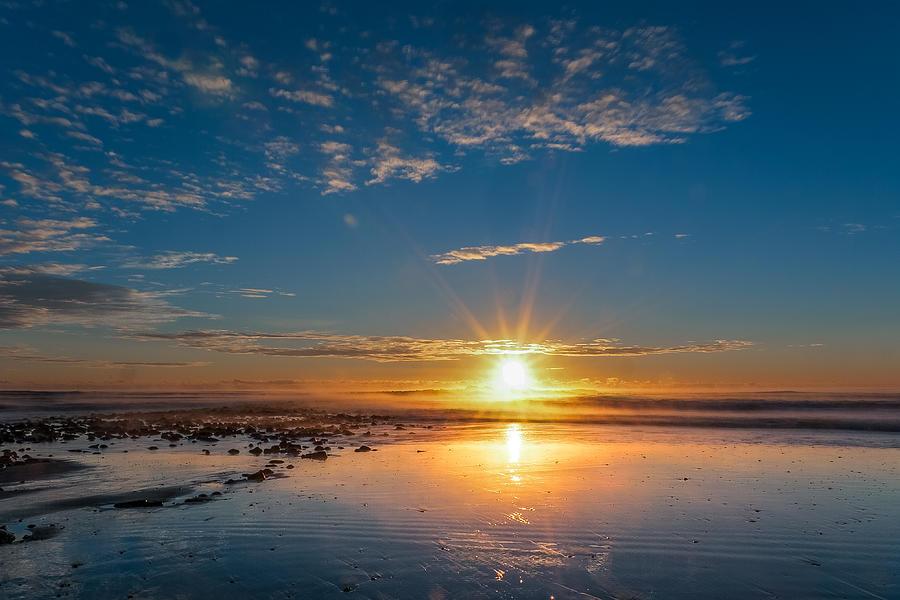 Sunrise Photograph - A Rising Star by Joshua Blash