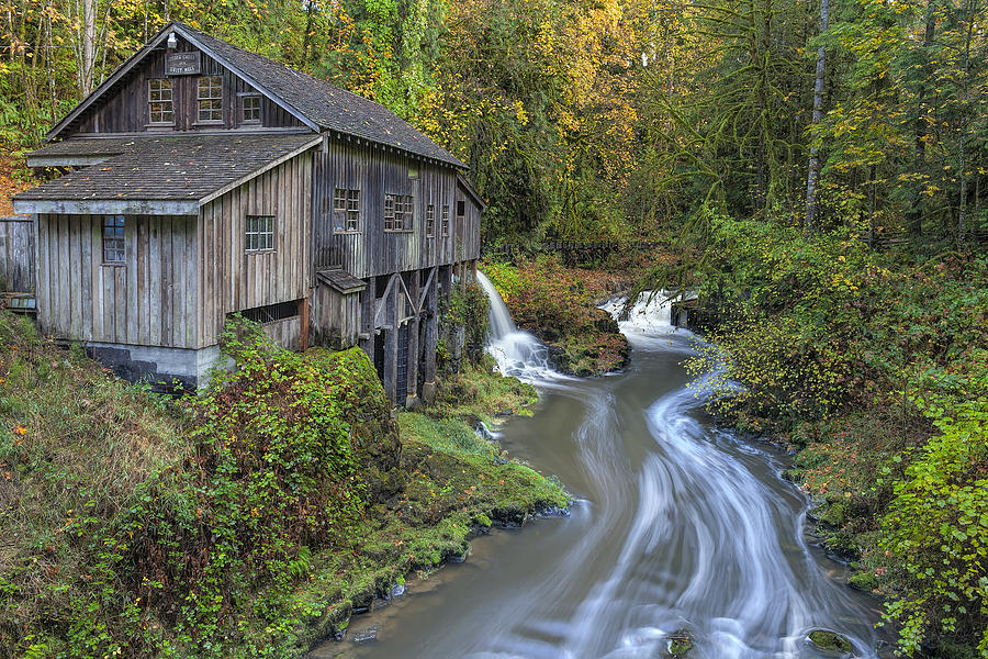 Cedar Creek Photograph - A River Flows Through It by David Gn