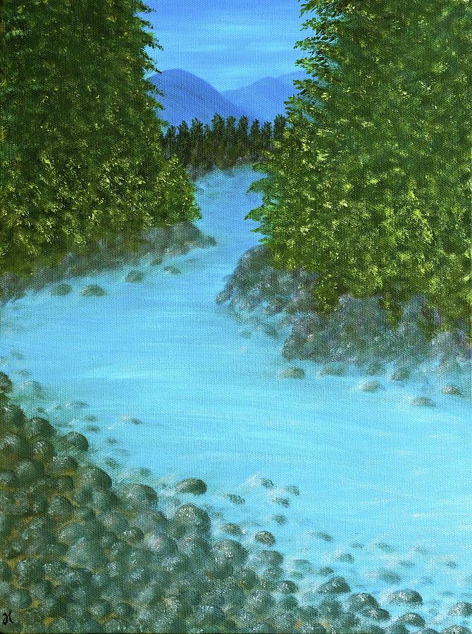 Landscape Painting - A River Runs Through It by Heidi Lynn