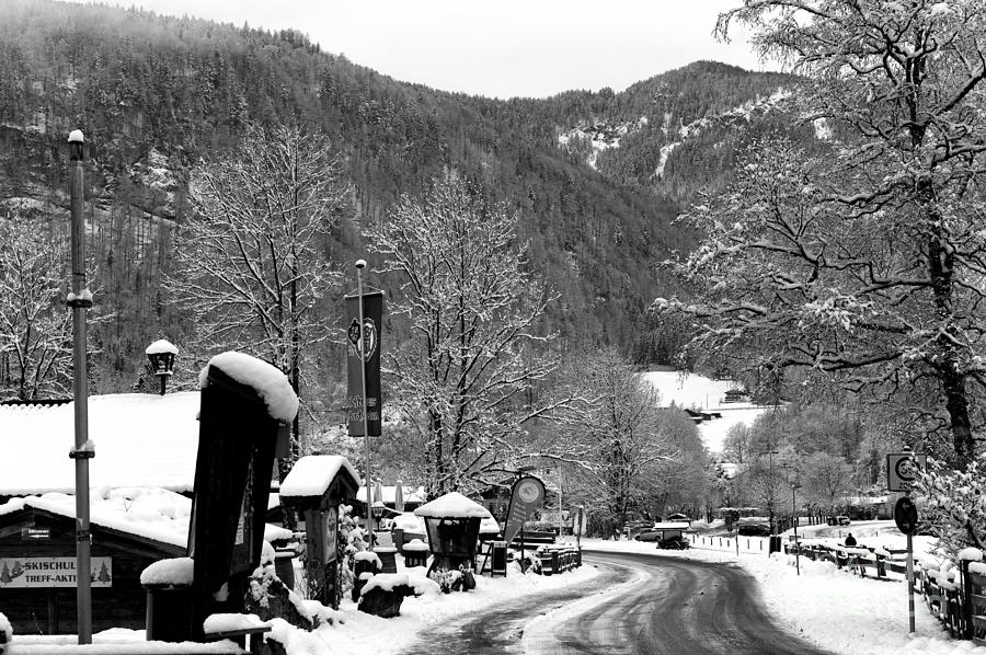 Road Photograph - A Road Through The Alps by John Rizzuto