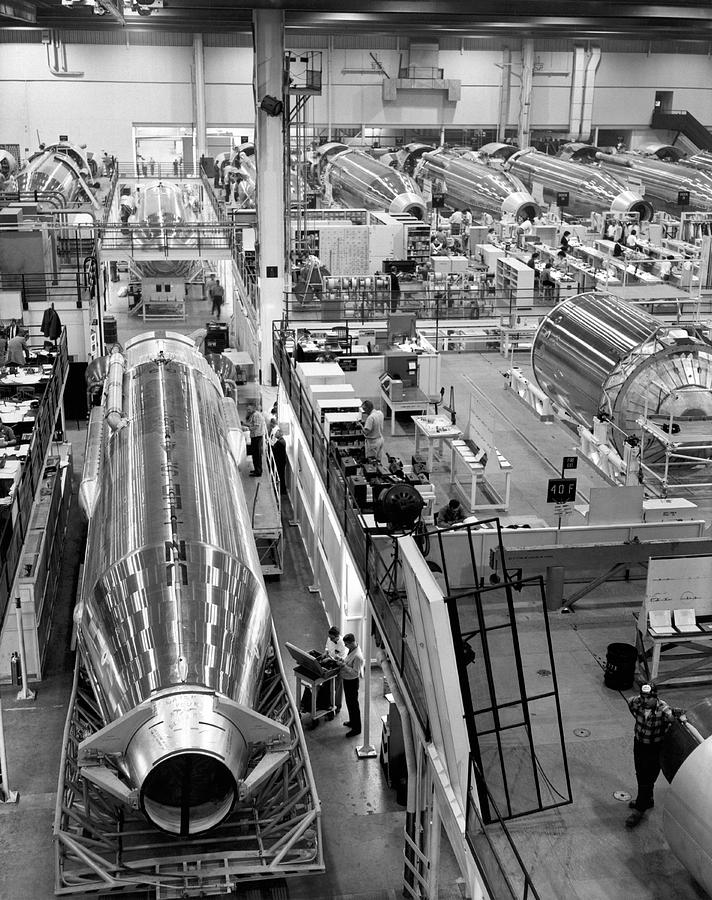 1960s Photograph - A Rocket Manufacturing Facility. by Underwood Archives