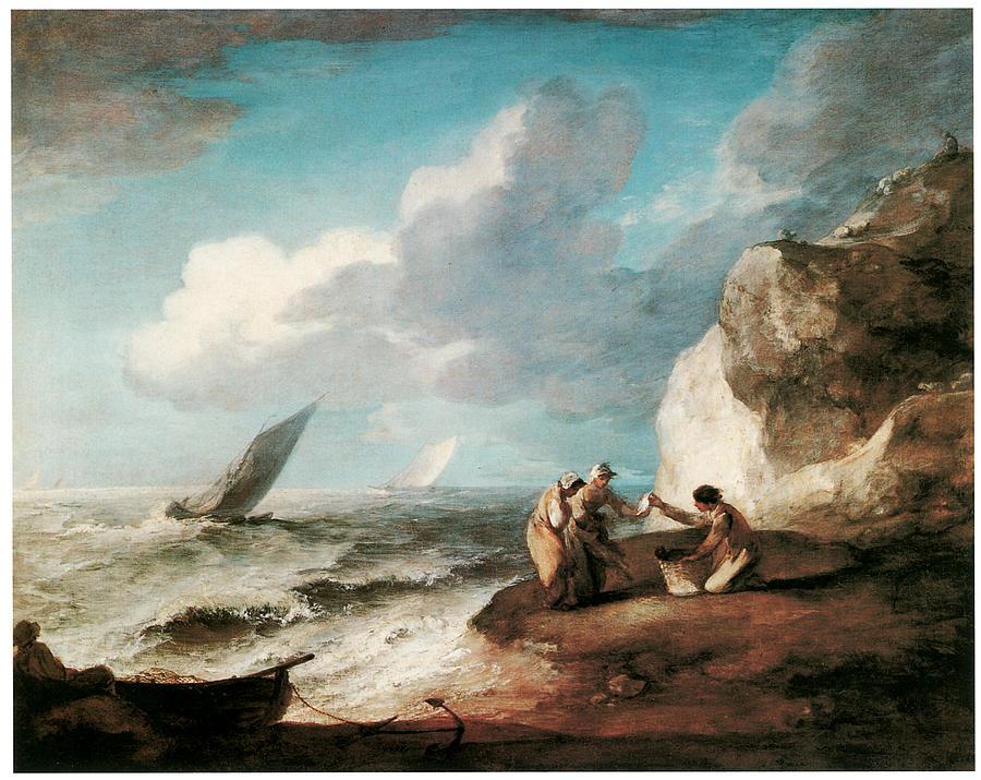 Thomas Gainsborough Painting - A Rocky Coastal Scene by Thomas Gainsborough