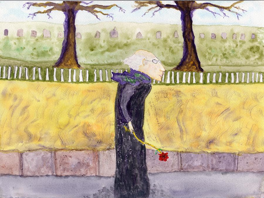 Jim Taylor Painting - A Rose For My Dear by Jim Taylor