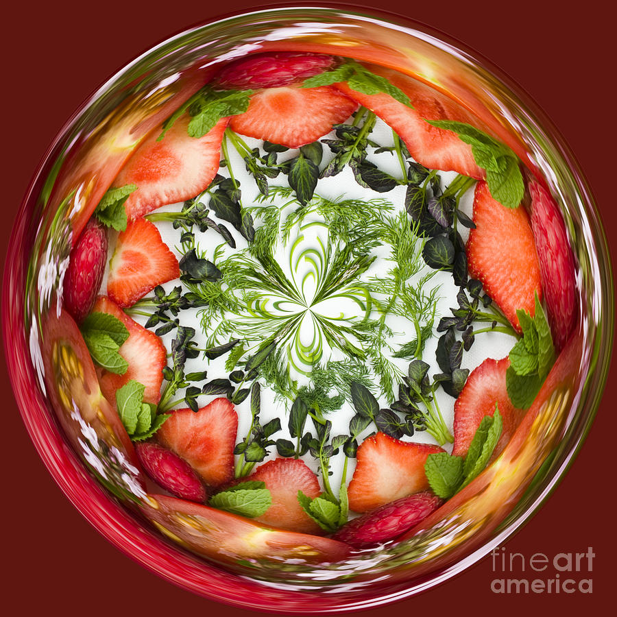 Anne Gilbert Photograph - A Round Of Fresh Fruit Salad by Anne Gilbert