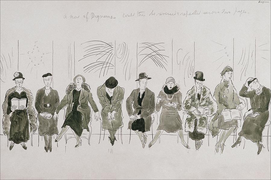 A Row Of Senior Women Digital Art by Cecil Beaton