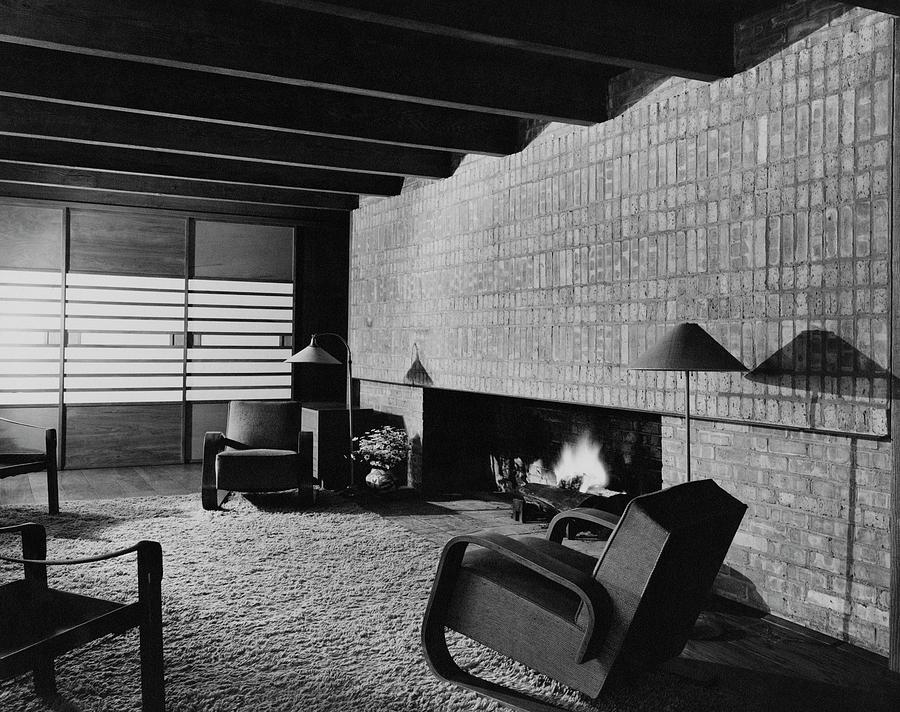A Rustic Living Room Photograph by Hedrich Blessing