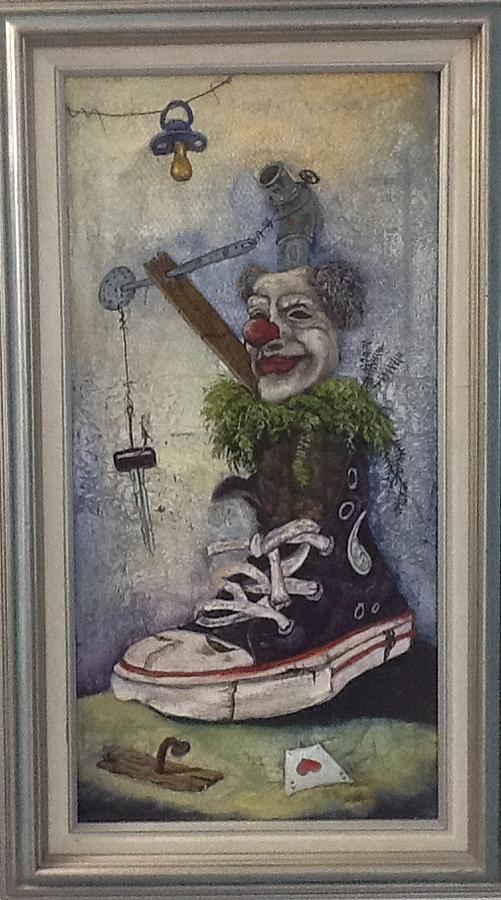 Clown Painting - A Sad Smile Means More Than A Lot Of Crying by Carlos Rodriguez Yorde