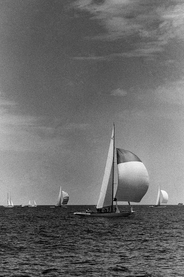 A Sailboat Called Columbia Photograph by Toni Frissell