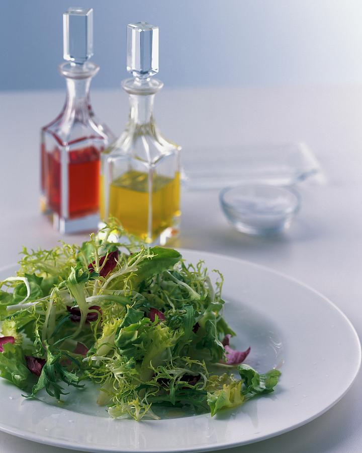A Salad With Dressings Photograph by Romulo Yanes