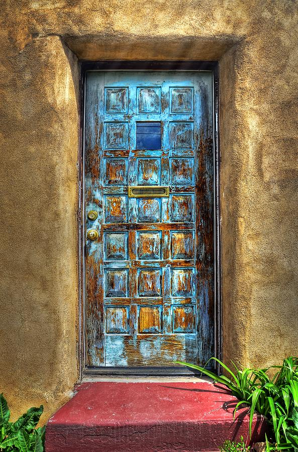 A Santa Fe Blue Door Photograph By Ken Smith