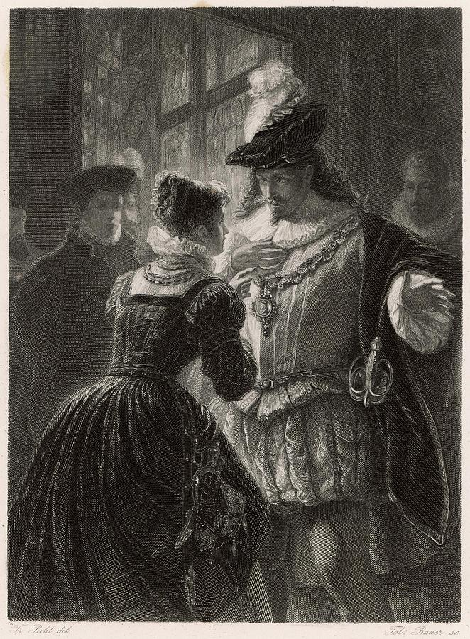 Well Drawing - A Scene From Shakespeares Comedy (or by Mary Evans Picture Library