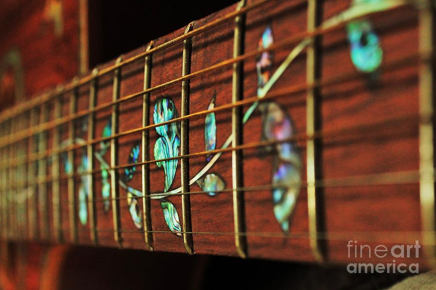 Guitar String Painting - A Second Passion by Steven Lebron Langston