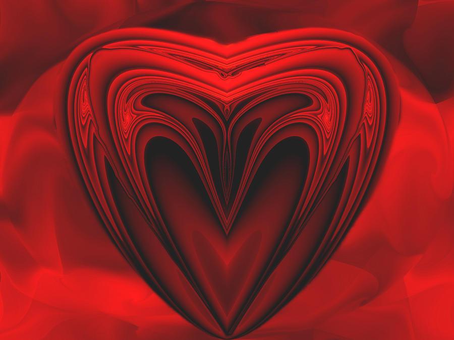 Abstract Digital Art - A Secret Love by Wendy J St Christopher