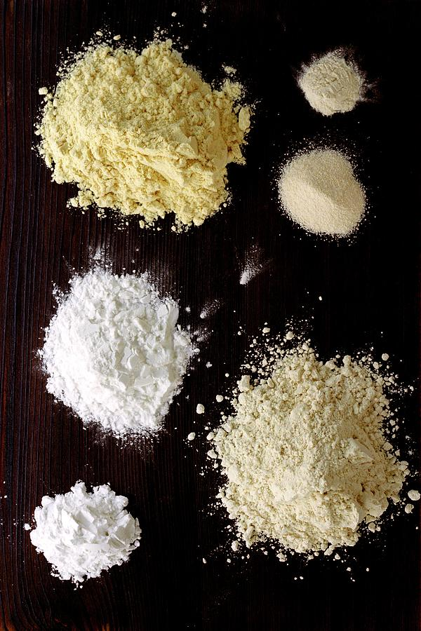 A Selection Of Gluten Free Flours Photograph by Romulo Yanes