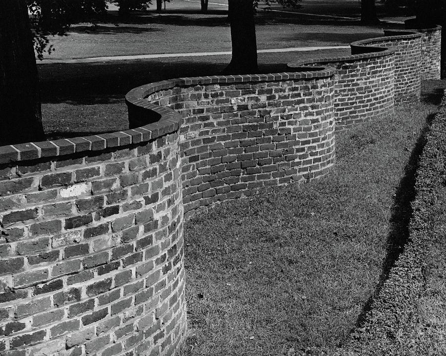 A Serpentine Brick Wall Photograph by William and Neill Dingledine