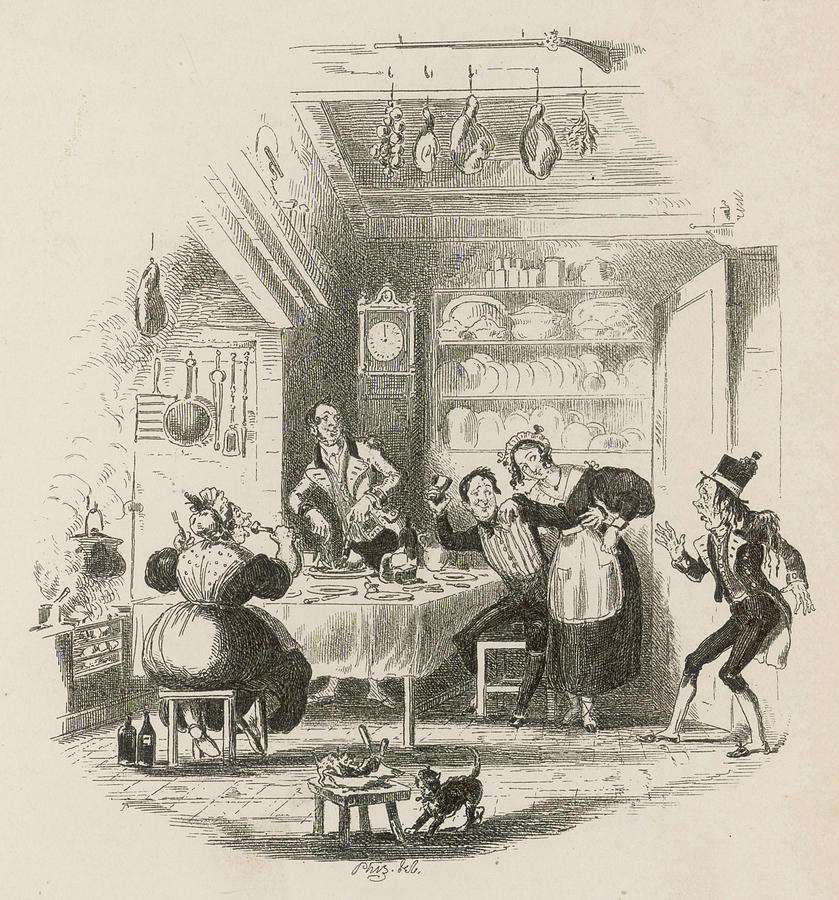 Servants Drawing - A Servants Hall At The  Beginning by Mary Evans Picture Library