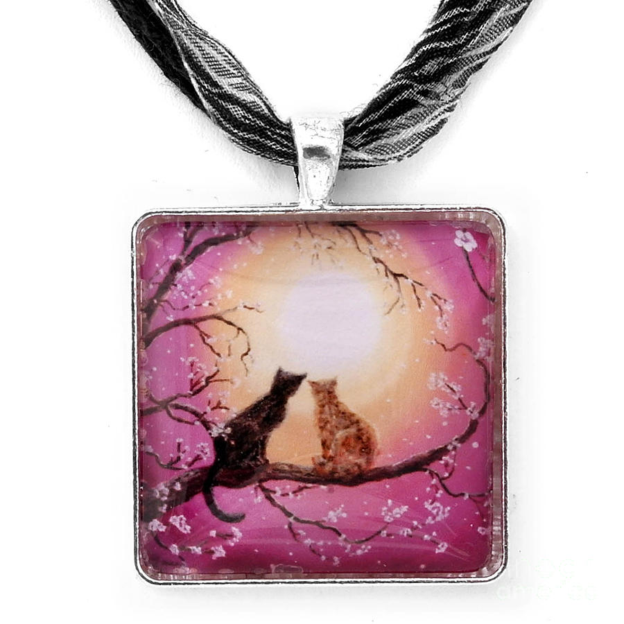 Black Jewelry - A Shared Moment Pendant by Laura Iverson