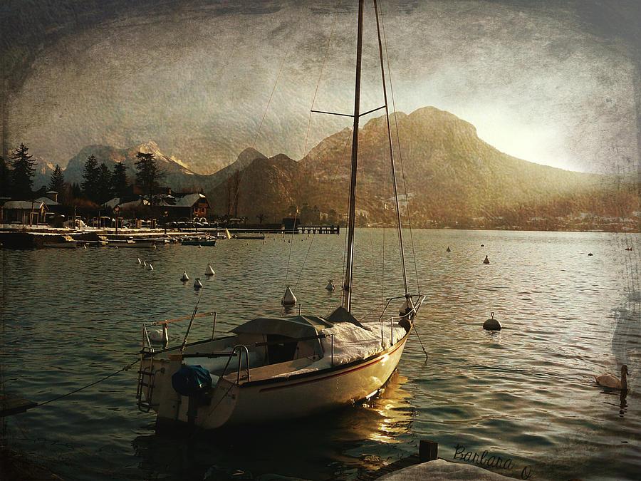 Boat Photograph - A Ship In Port by Barbara Orenya