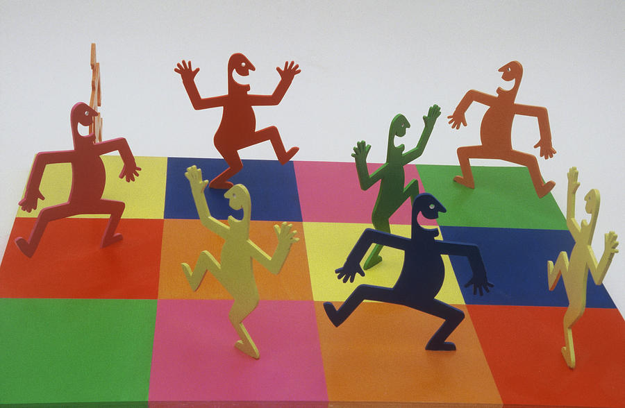 Colorful Sculpture - A Shortcut To Happiness - Dancing by Peter Michel