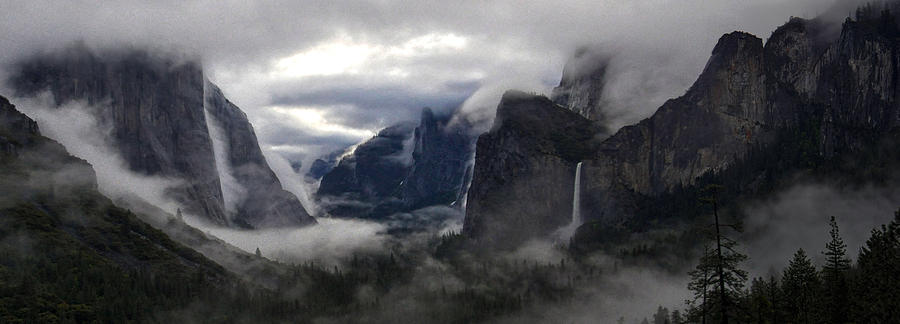 Yosemite National Park Photograph - A Shrouded Sorceress Casts Wide Her Spell by Steven Barrows