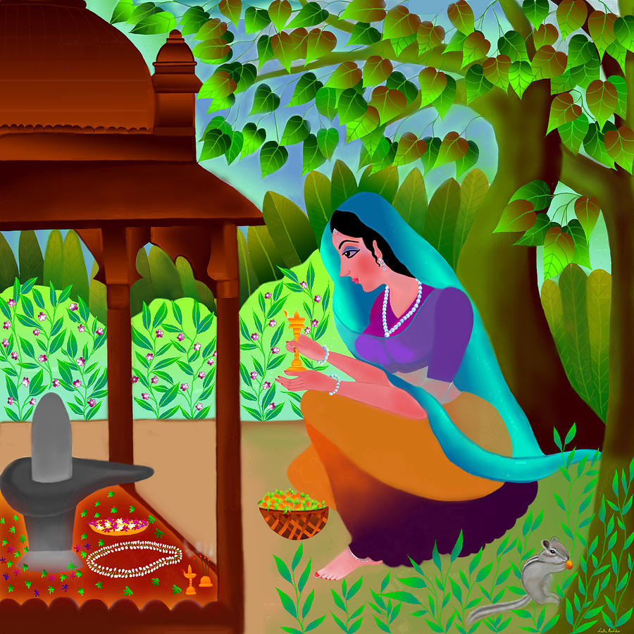 A Silent Prayer In Solitude Digital Art - A Silent Prayer In Solitude by Latha Gokuldas Panicker