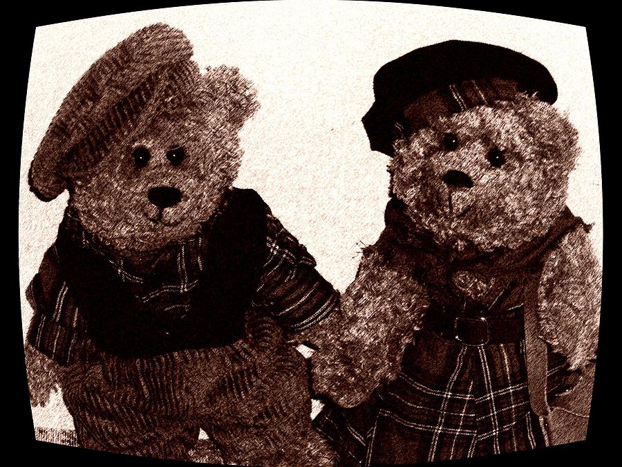 Teddy Bears Photograph - A Simple Sweet Story Of Friendship by Donatella Muggianu