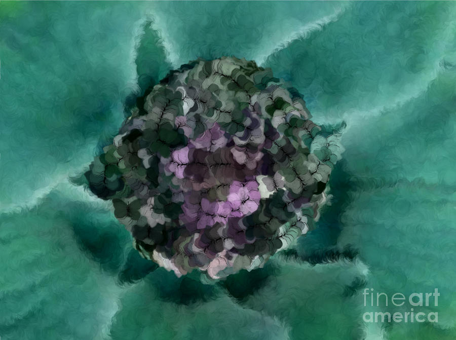 Flowers Digital Art - A Sky Full Of Lighters Teal Purple by Holley Jacobs