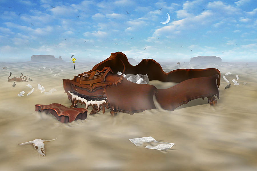 Surrealism Photograph - A Slow Death In Piano Valley by Mike McGlothlen