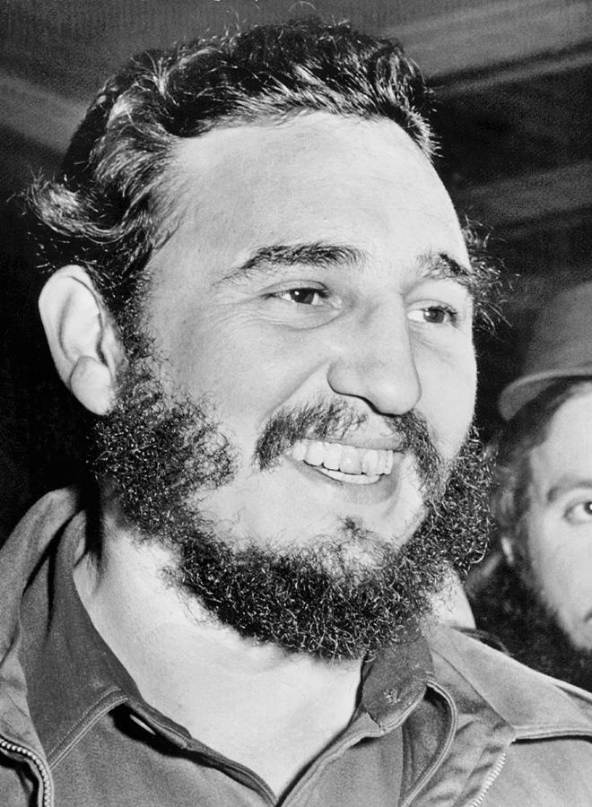 1950s Photograph - A Smiling Fidel Castro by Underwood Archives