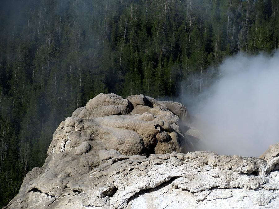 A Smoking Man. Yellowstone Hot Springs Photograph