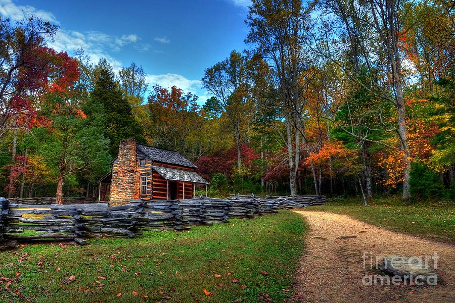 A Smoky Mountain Cabin Photograph By Mel Steinhauer