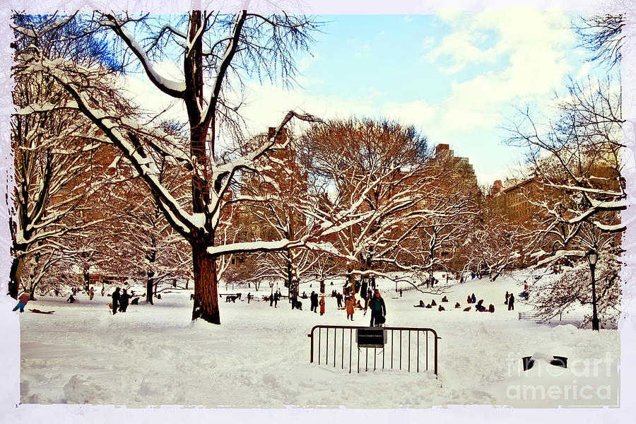 Snowboarders Photograph - A Snow Day In Central Park by Madeline Ellis