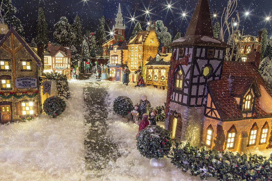Christmas Photograph - A Snowy Evening by Caitlyn  Grasso