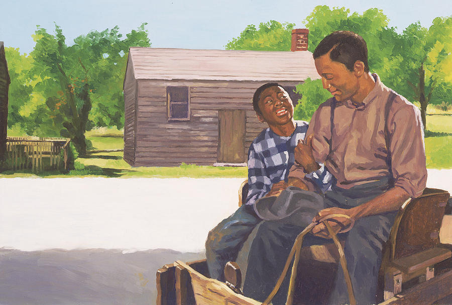 Father Painting - A Sons Comfort by Colin Bootman