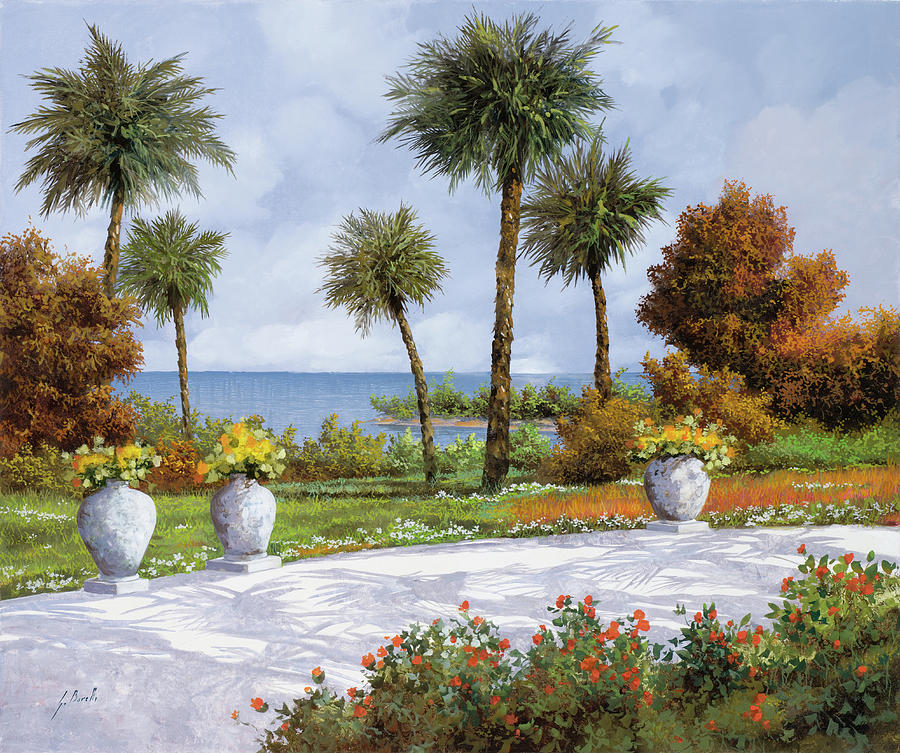 Palm Painting - A Spasso Tra Le Palme by Guido Borelli