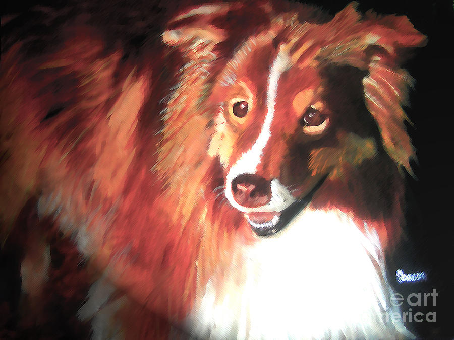 Dog Painting - A Special Friend by Sharon Burger