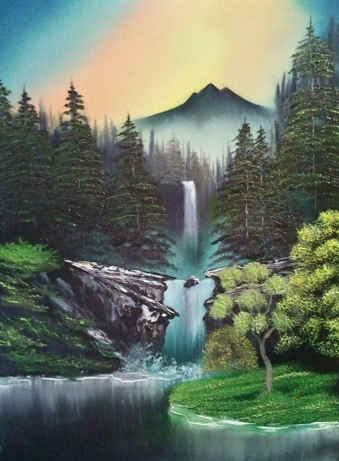 Landscape Painting Painting - A Special Mountain Spot by Lee Bowman