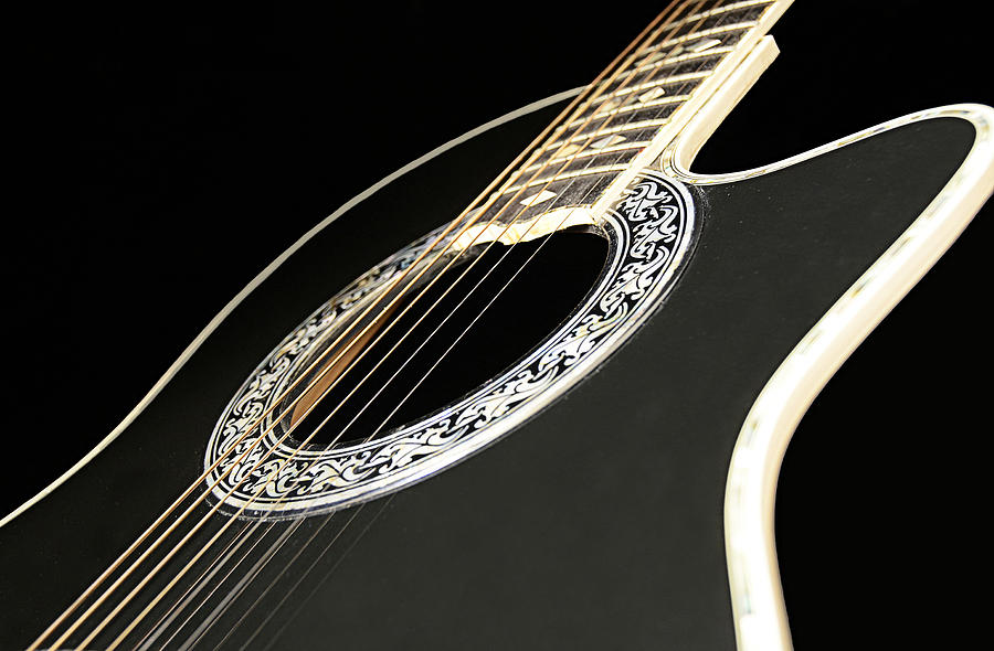 Guitar Photograph - If Only.......... by Renee Anderson