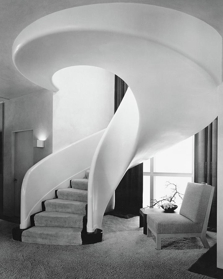 A Spiral Staircase Photograph by Hedrich-Blessing