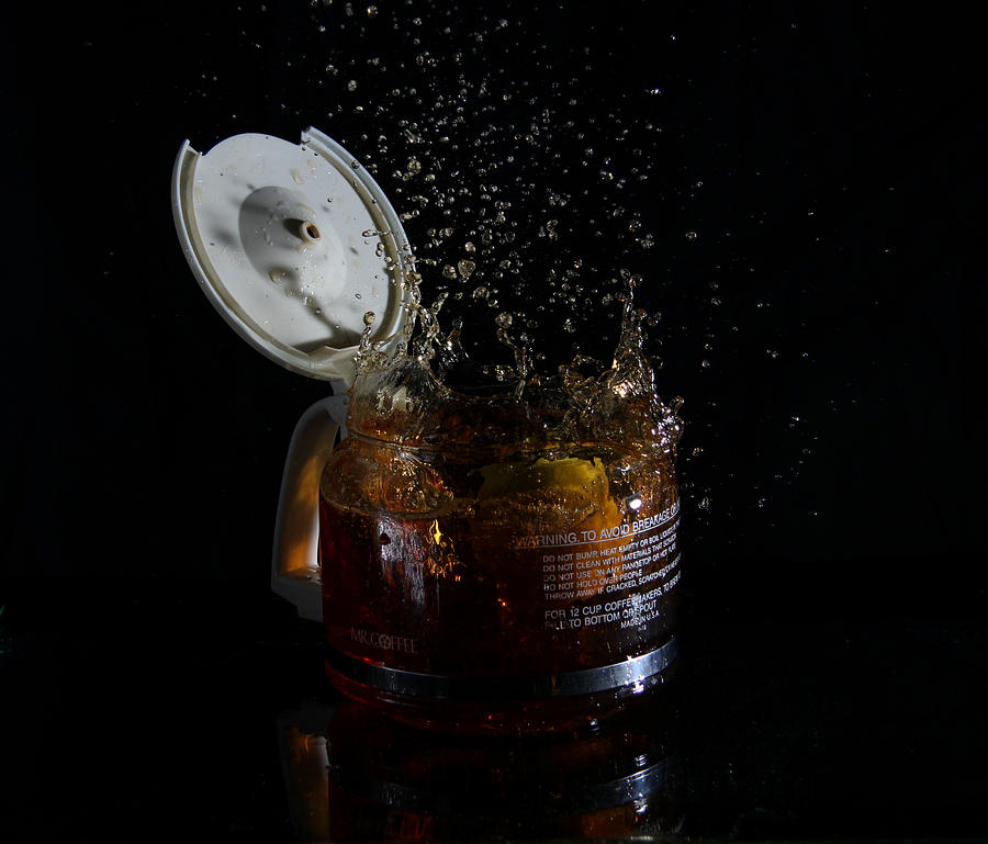 Coffee Photograph - A Splash Of Coffee by Randy Turnbow