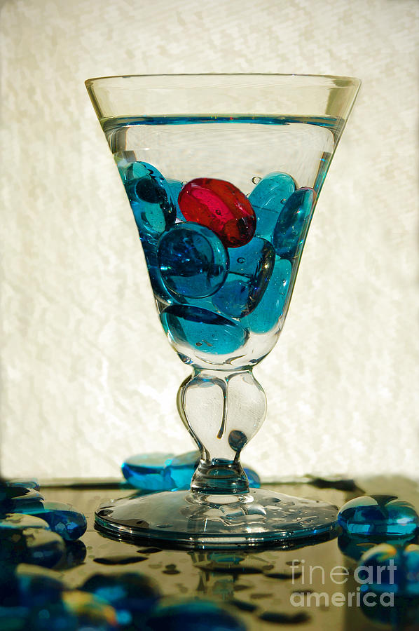 Blue Glass Stones Digital Art - A Splash Of Color by Margie Chapman