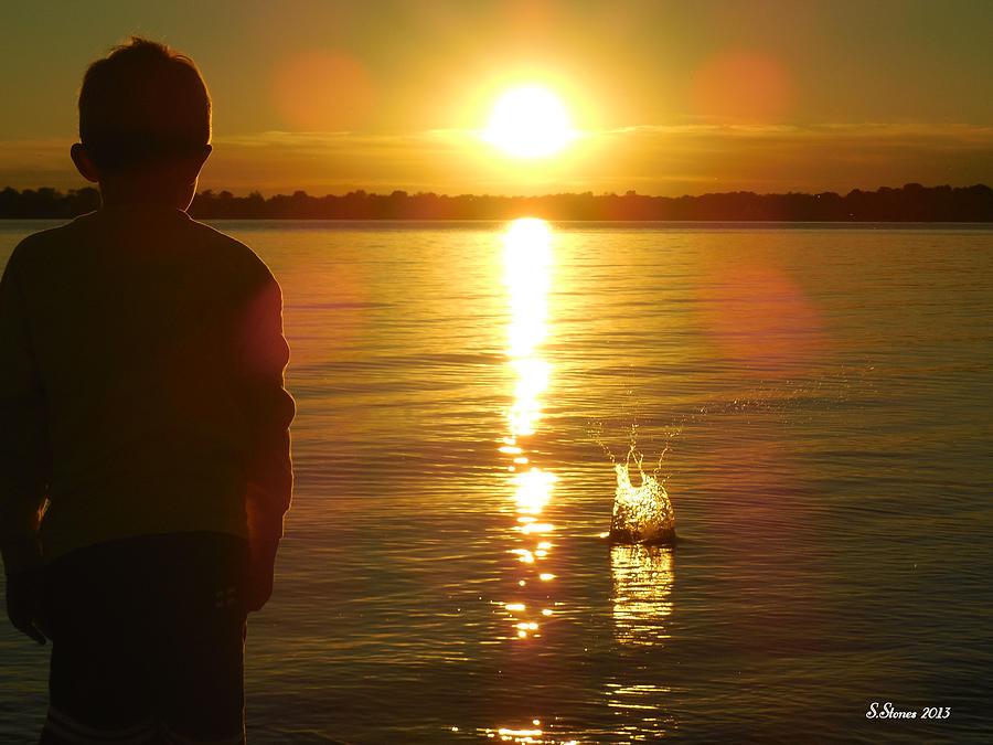 A Splash Of Sunset Photograph