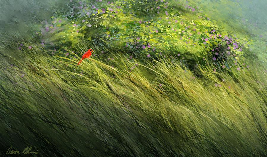 Cardinal Digital Art - A Spot of Red by Aaron Blaise