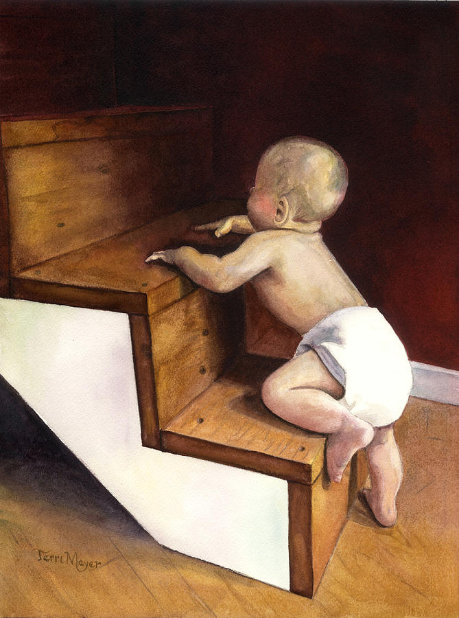 A Stairway Of Miracles Painting by Terri  Meyer