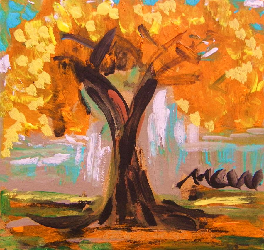Tree Painting - A Standout Tree by Mary Carol Williams