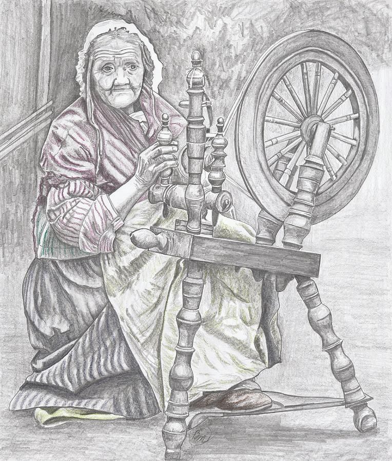 Woman Painting - A Stitch In Time by Beverly Marshall
