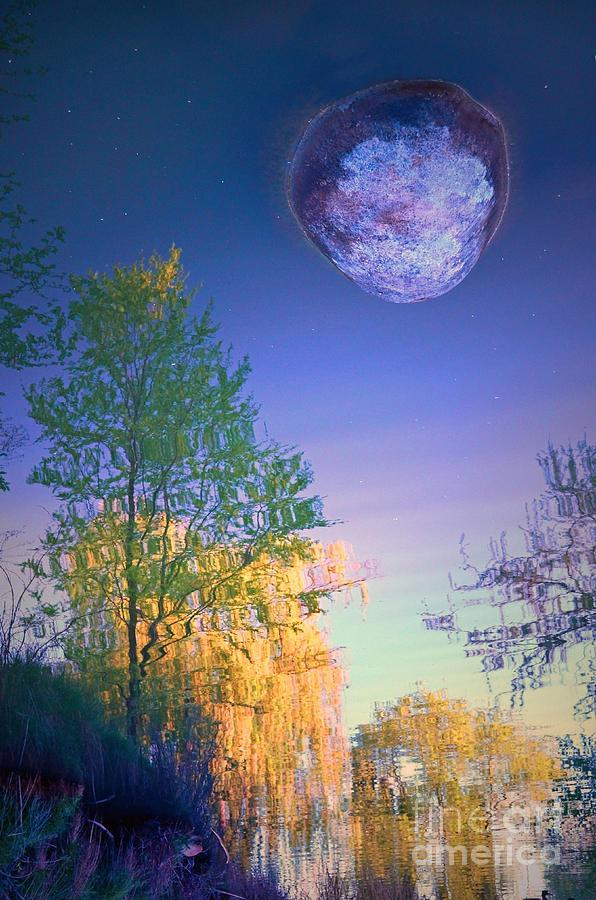 Rock Photograph - A Stone Moon by Tara Turner